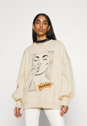 PLAYBOY COMIC GRAPHIC OVERSIZED  - Sweatshirt - stone