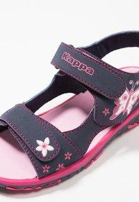 Kappa - BLOSSOM - Chodecké sandály - navy/pink - 2