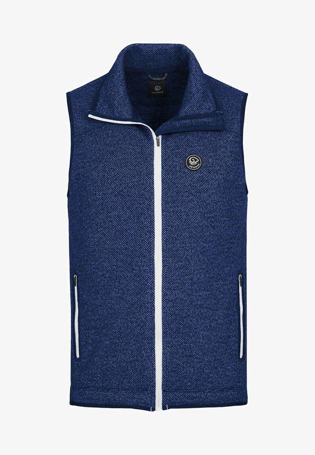 STAN - Waistcoat - dk.blau
