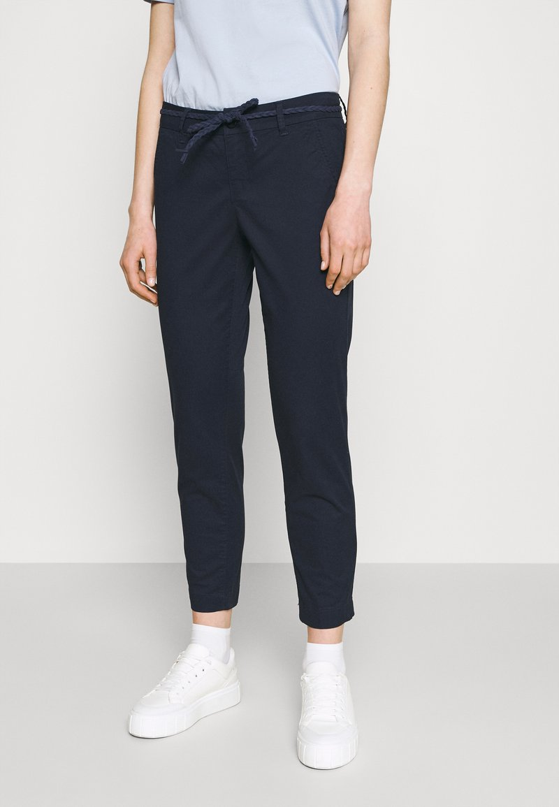 ONLY - ONLEVELYN ANKLE PANT  - Chinos - navy blazer