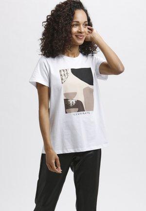KAVERAJA  - Print T-shirt - optical white