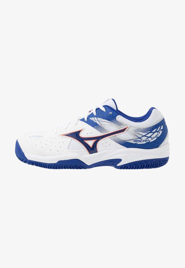 BREAK SHOT 2 CC - Clay court tennis shoes - white/reflex blue/nasturtium