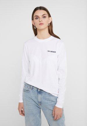 CASUAL LONG SLEEVE TEE - Long sleeved top - white