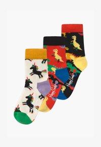 Happy Socks - KIDS DINOSAUR 3 PACK UNISEX - Socks - multi-coloured - 0