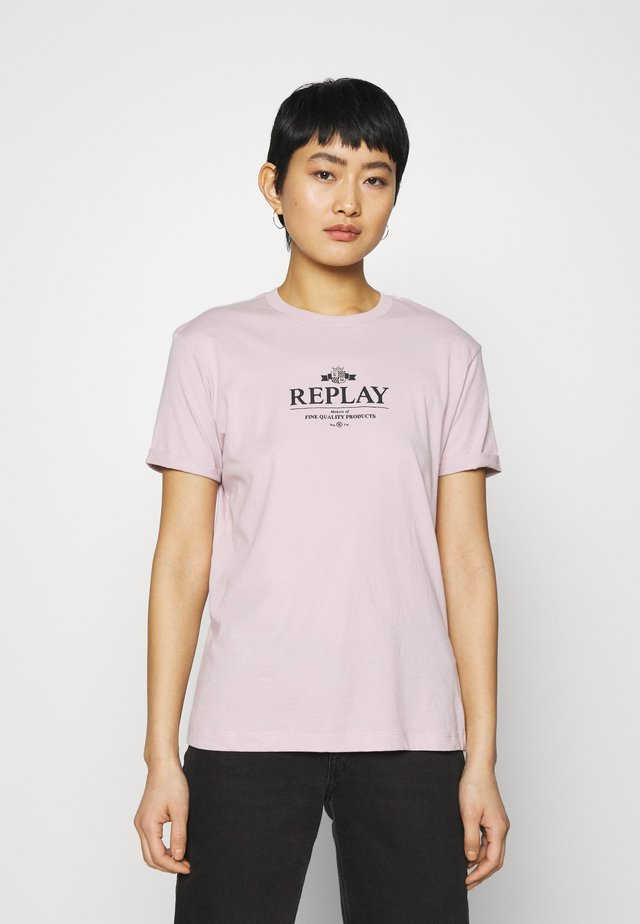 T-shirt imprimé - quartz rose