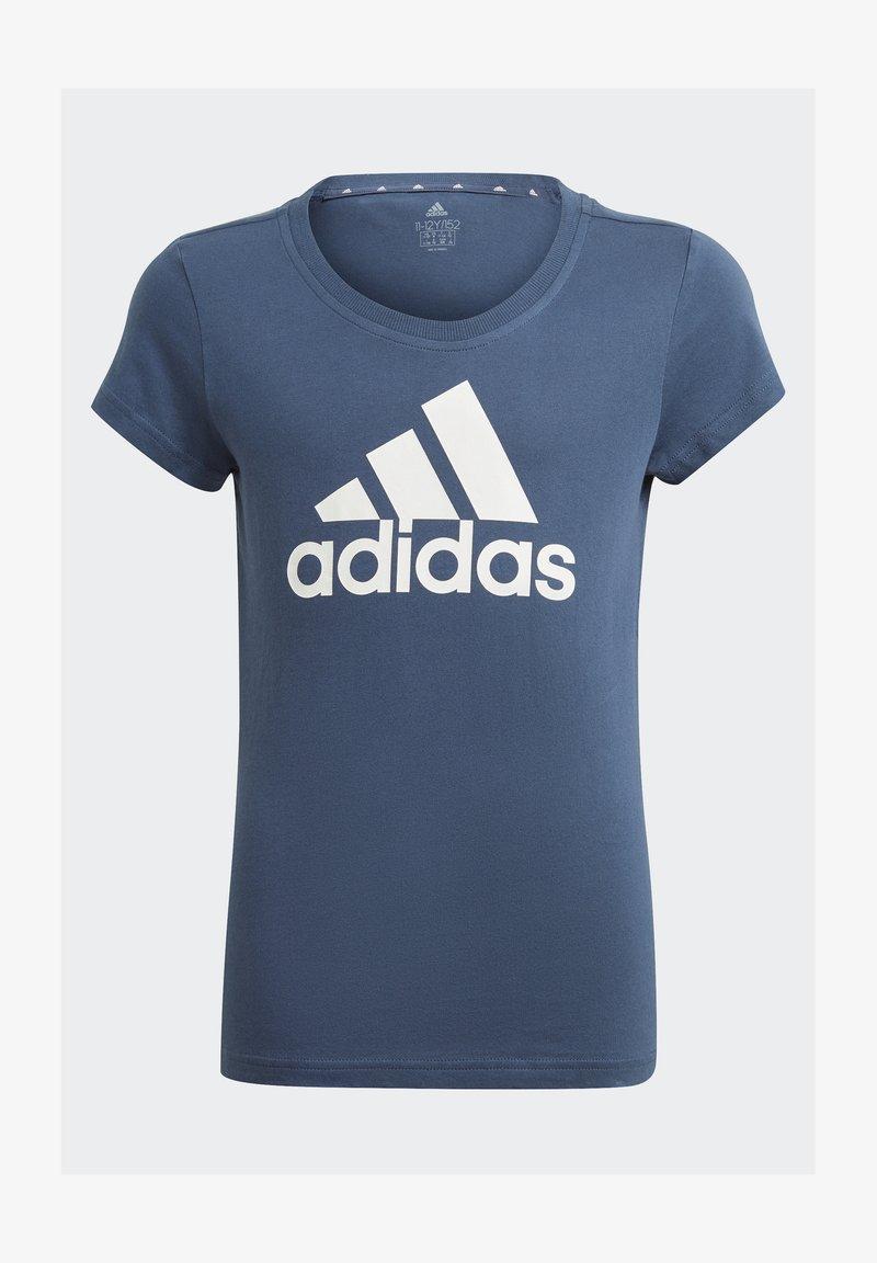 adidas Performance - T-shirts print - crenav/white