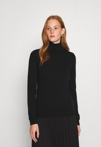 Benetton - TURTLE NECK - Sweter - black - 0