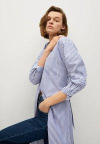 Mango - Shirt dress - azul - 4