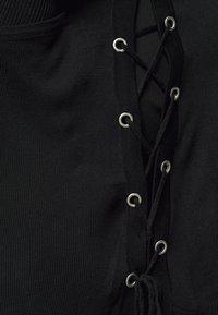 Simply Be - EYELET DETAIL CARDIGAN - Cardigan - black - 4