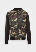 BLAIR - Bomber Jacket - khaki/charcoal/black