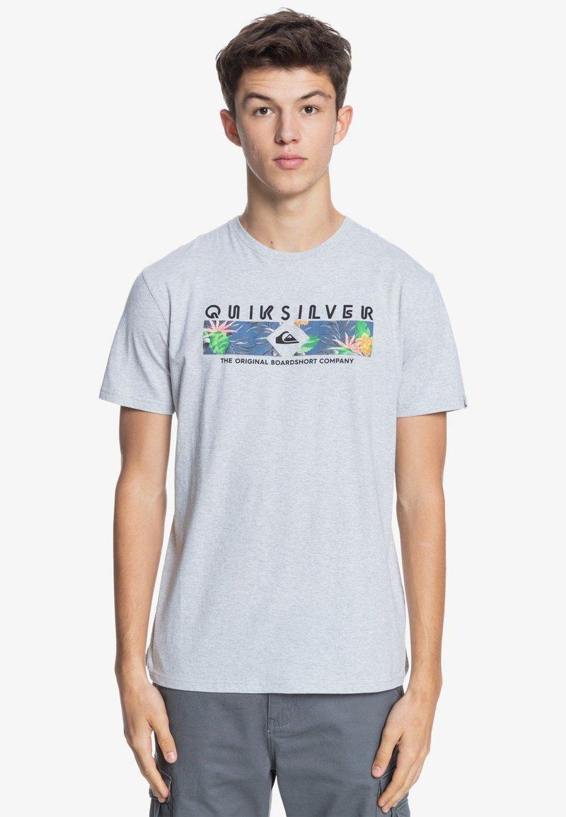 Quiksilver - DISTANT SHORES - Print T-shirt - athletic heather