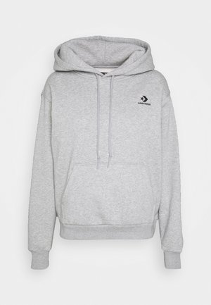 EMBROIDERED HOODIE - Sweat à capuche - vintage grey heather