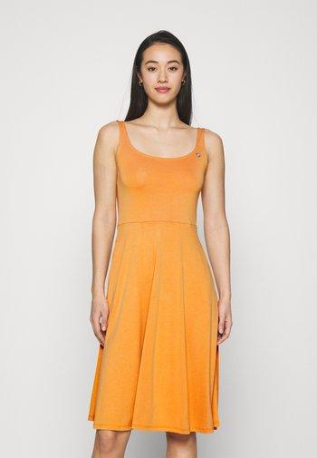 TRISHA - Jersey dress - yellow
