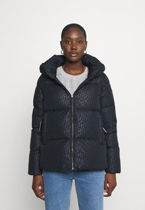 CUBE EMBOSSED PUFFER - Down jacket - blue