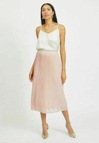 Vila - A-line skirt - pale mauve - 1