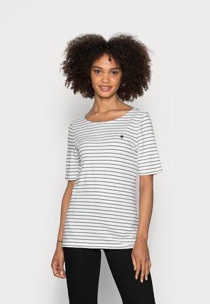 SHORT SLEEVE ROUND NECK STRIPED - Camiseta estampada - multi/white