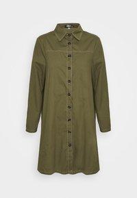 Missguided - CONTRAST STITCH DRESS - Shirt dress - khaki - 6