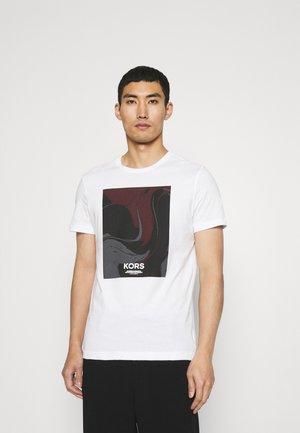 BLOCK ABSTRACT - T-shirt print - white
