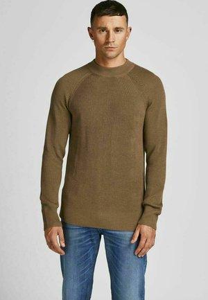 JPRBLAPERFECT  - Stickad tröja - dark coat khaki