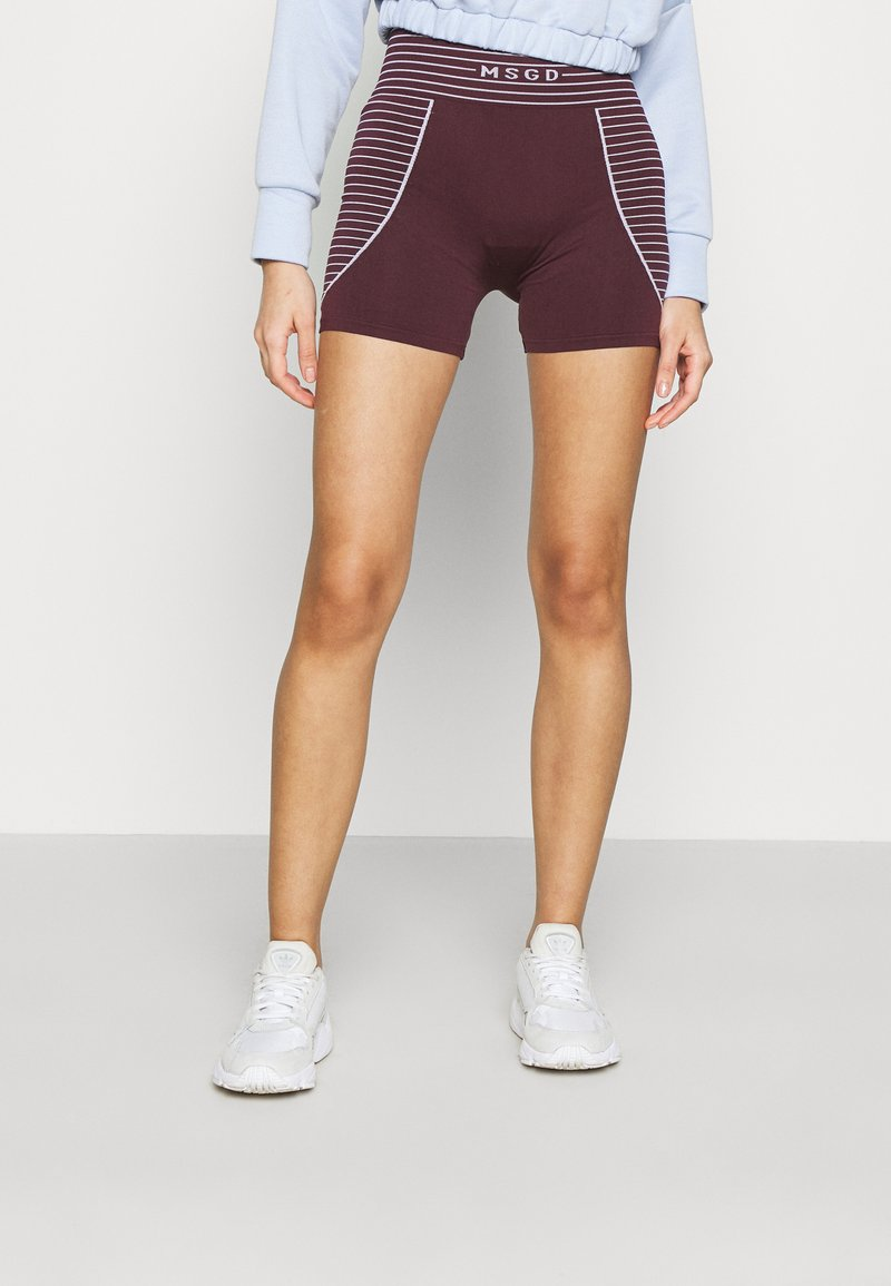 Missguided - SEAMLESS BOOTY - Shorts - burgundy