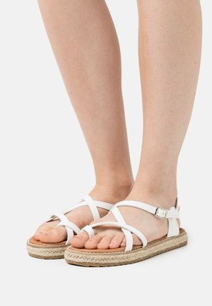 ALTHEA - T-bar sandals - white