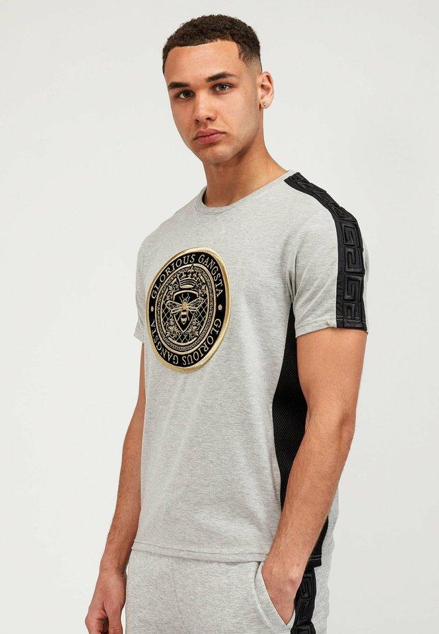 T-shirt con stampa - grey black