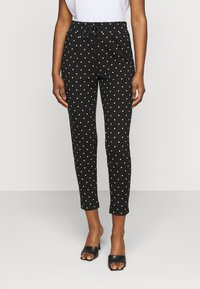 ONLY Petite - ONLPOPTRASH EASY DOT PANT - Trousers - black - 0