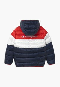 Champion - COLOR BLOCK UNISEX - Winter jacket - dark blue/white/red - 1