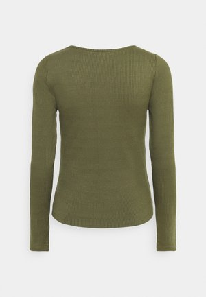 VMJANET ASSYM - Long sleeved top - ivy green