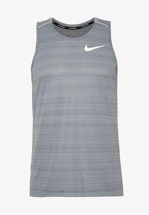 DRY MILER TANK - Sports shirt - smoke grey/reflective silver