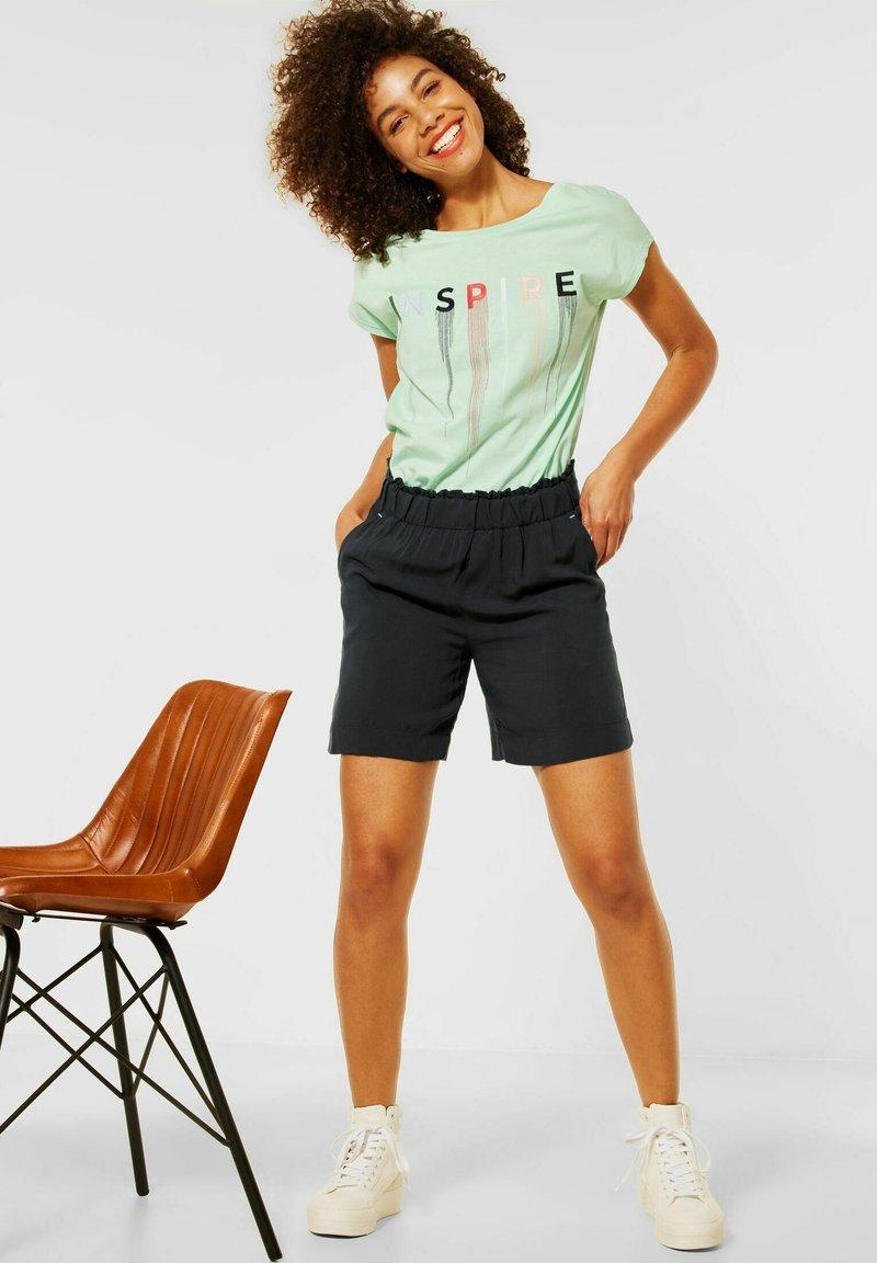 Street One - LOOSE FIT SHORTS IN UNIFARBE - Shorts - grau