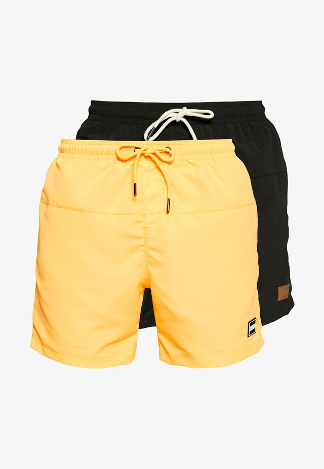 BLOCK SWIM 2 PACK - Shorts da mare - orange/black