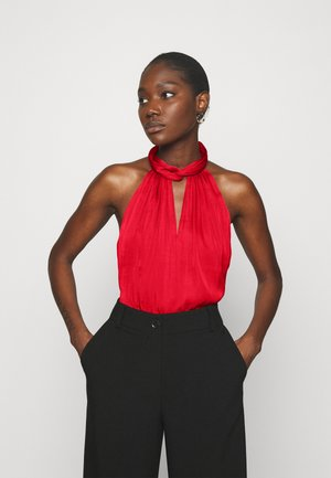 TWIST NECK HALTER  - Blouse - ultra red