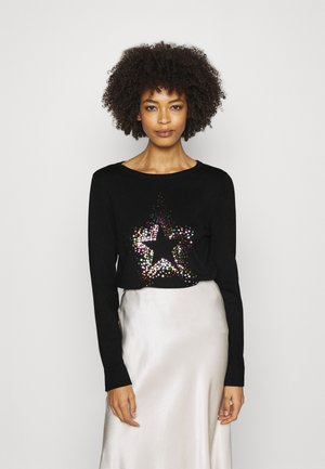 RAINBOW STAR TINSEL JUMPER - Strikkegenser - black