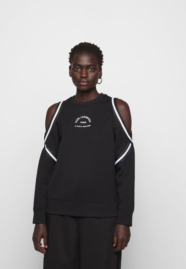 COLD SHOULDER  - Sweatshirt - black