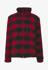 Urban Classics - PLAID HIKING JACKET - Tunn jacka - red/black - 3