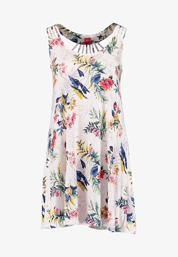 HOLLY_BEACHDRESS - Jersey dress - white print