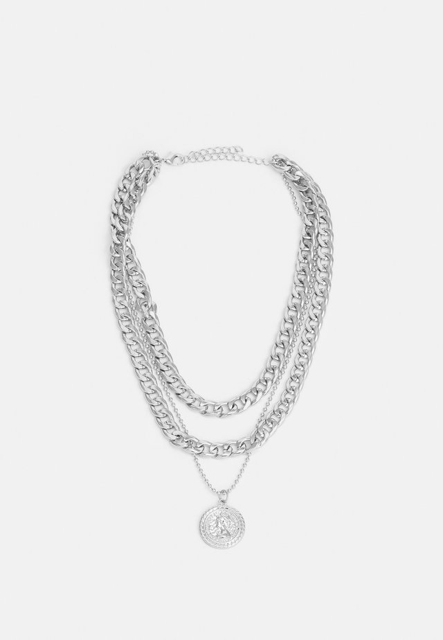 SHORT LAYERING NECKLACE UNISEX - Necklace - silver-coloured