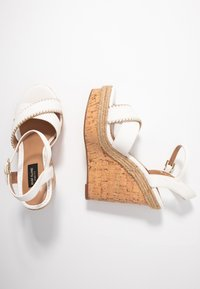 River Island Wide Fit - High heeled sandals - white - 3