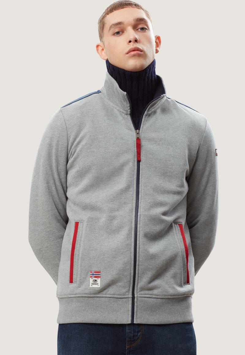Napapijri - BARDARA  - Zip-up sweatshirt - grey