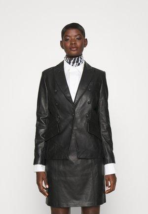LUXURY FASHIONISTA - Leather jacket - black