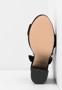 Even&Odd - LEATHER - Sandaler med høye hæler - black - 6