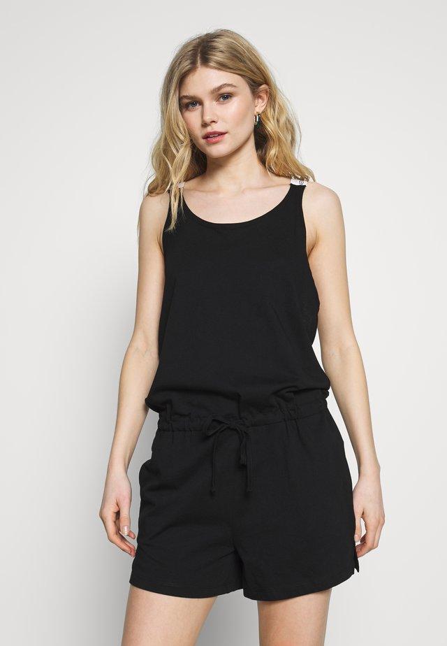 LOGO ROMPER - Pyjamas - black