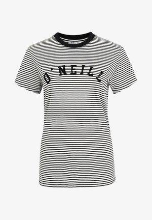 ESSENTIALS STRIPE - Print T-shirt - white/black
