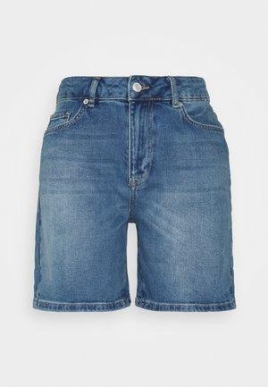 SLFSILLA FOL UP - Denim shorts - medium blue denim