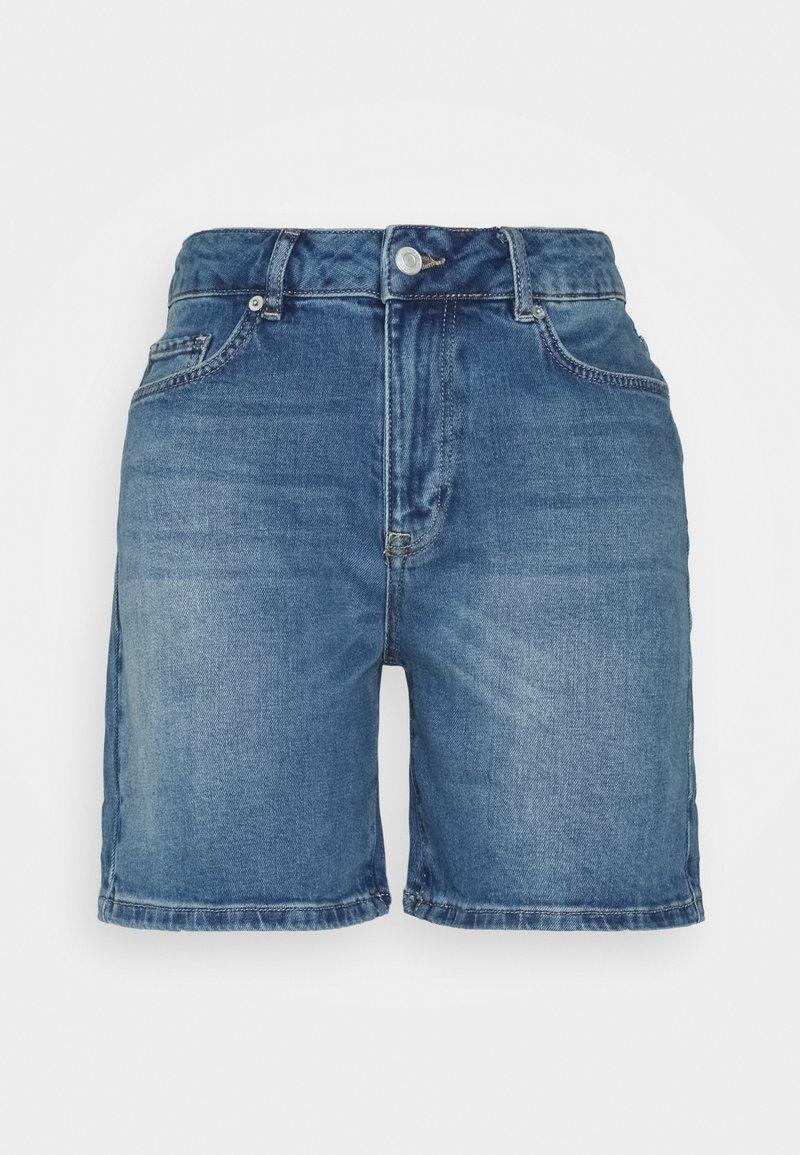Selected Femme - SLFSILLA FOL UP - Short en jean - medium blue denim