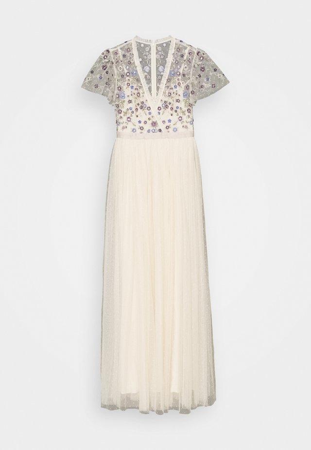 PRAIRIE FLORA BODICE MAXI DRESS - Společenské šaty - champage