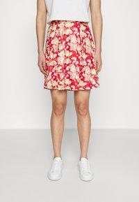 Vila - VIBE SHORT SKIRT 2 PACK - Mini skirt - black/scarlet flame - 1