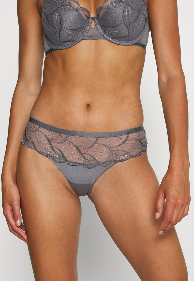AUTO WIDE SIDE TANGA BRAZ - Slip - grey mix