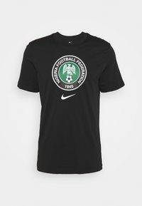 NFF NIGERIA TEE EVERGREEN CREST - National team wear - black